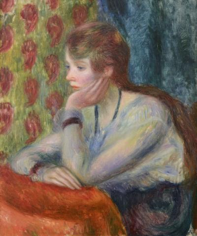 William Glackens Girl with chin in her hand