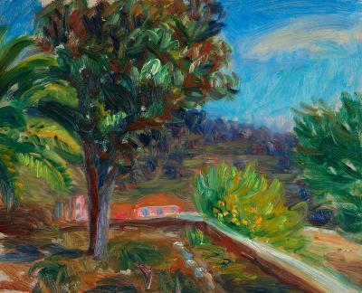 William Glackens View into a Garden