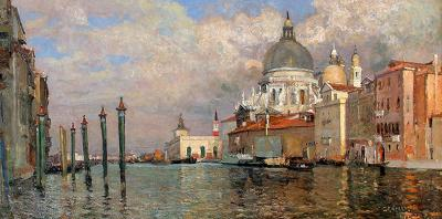 William Graham Dogana and Salute from the Prefetura Venice