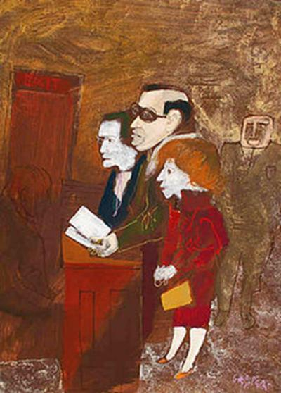 William Gropper Three Before the Bench