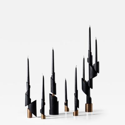 William Guillon ASHES TO ASHES FULL SET Six Candlesticks