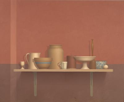 William H Bailey Still Life on Shelf