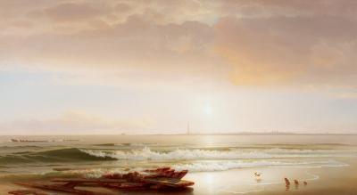 William H Willcox Atlantic City from Brigantine Beach