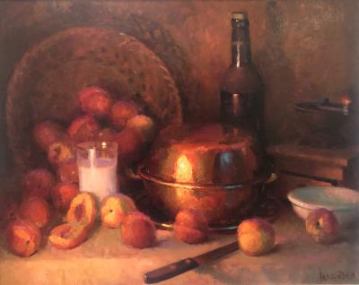 William Harnden Still Life With Peaches
