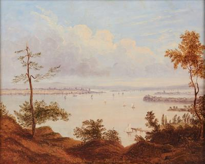 William Henry Bartlett NEW YORK FROM WEEHAWKEN NEW JERSEY
