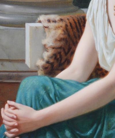 William Henry Longmaid Poppaea Sabina 19th Century Neoclassical Portrait Oil Painting Roman Empress