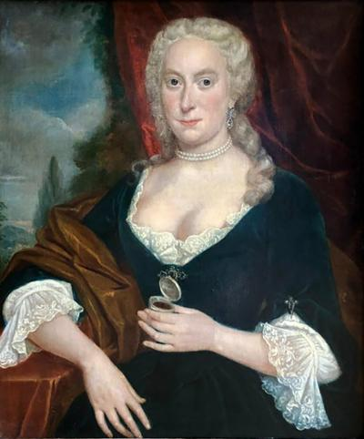 William Hoare Portrait of a Lady Attributed to William Hoare 18th Century