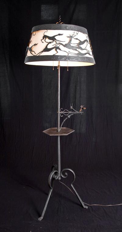 William Hunt Diederich HUNTING SCENE FLOOR LAMP