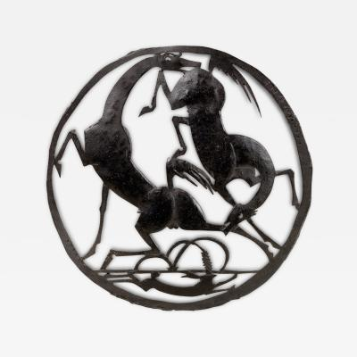 William Hunt Diederich Horse and Hare Trivet