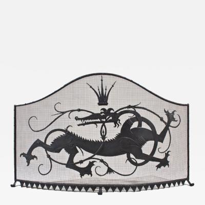 William Hunt Diederich Salamander King Firescreen c 1920