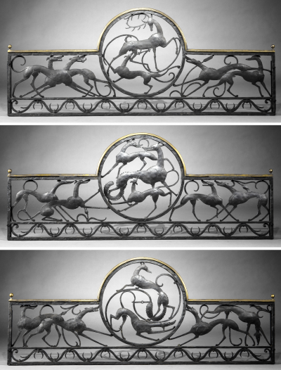 William Hunt Diederich Stag and Hound Fox and Hound Fox and Two Hounds Balcony Railings