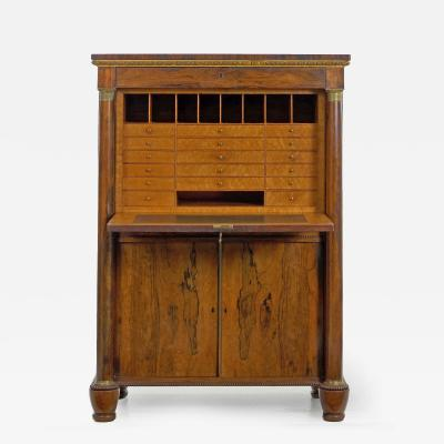 William IV Antique Rosewood Writing Desk Secr taire Abattant English C 1835