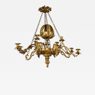 William IV Gilt Bronze Chandelier