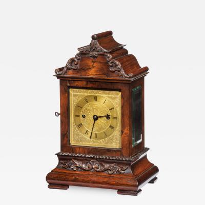William IV rosewood bracket clock