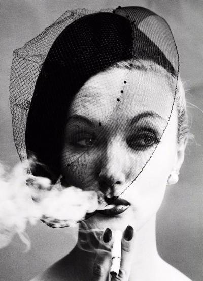 William Klein Smoke Veil Vogue Paris France 1958