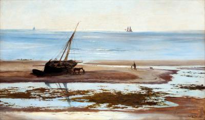 William Lionel Wyllie On the Sandbanks