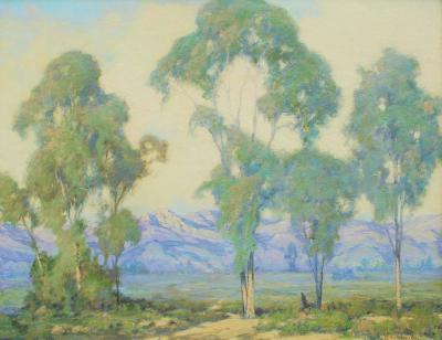 William Louis Otte Santa Barbara Foothills with Eucalyptus