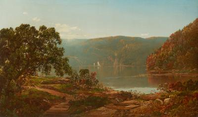 William Louis Sonntag Sr Morning on the Cro Nest Hudson River