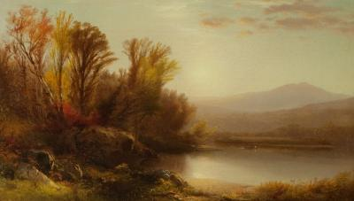 William M Hart Early Sun Lake George