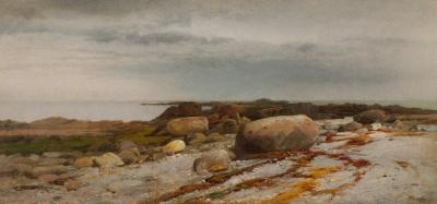 William M Hart Rocky Seascape