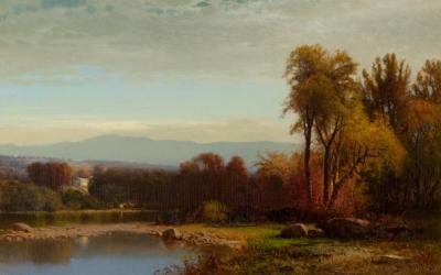 William M Hart Sunset on Catskill Creek 1869