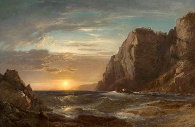 William M Hart Sunset on Grand Manan Island New Brunswick 1861