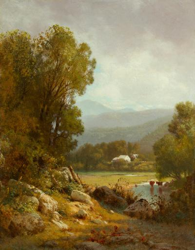 William M Hart Wooded Landscape