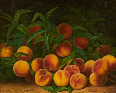 William Mason Brown STILL LIFE WITH PEACHES