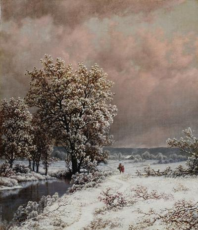 William Mason Brown Snow Scene