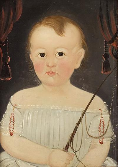 William Matthew Prior Portrait of a Baby Boy with Riding Crop
