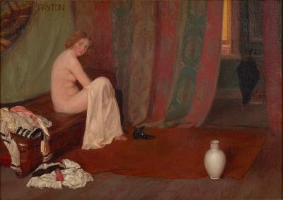 William McGregor Paxton Model in the Artist s Studio