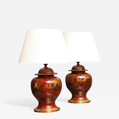 William Mehornay Pair of Lamps by William Mehornay