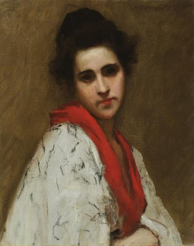 William Merritt Chase Portrait of a Woman Lady in Kimono