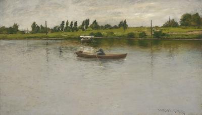 William Merritt Chase Pulling for Shore c 1886