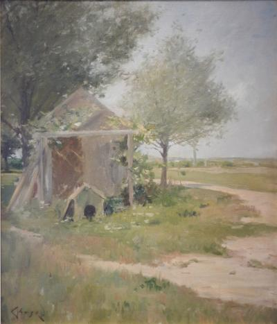 William Merritt Chase The Backyards Shinnecock