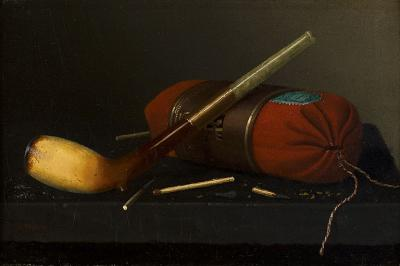 William Michael Harnett Still Life with Pipe c 1878