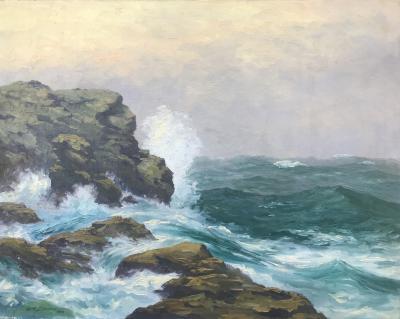 William Reuben Clark Wood Crashing Surf
