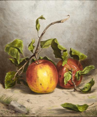 William Rickarby Miller Still Life with Apples