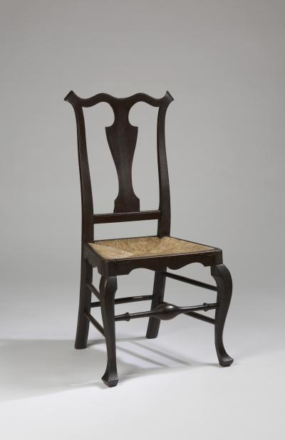 William Savery A Philadelphia maple rush seat side chair attributed to William Savery