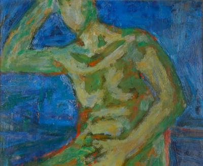William Schock Seated Green Nude