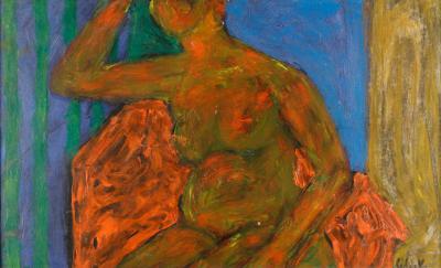 William Schock Seated Nude