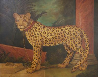 William Skilling Large Skilling Leopard Painting