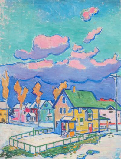 William Sommer Houses and Pink Clouds Lakewood