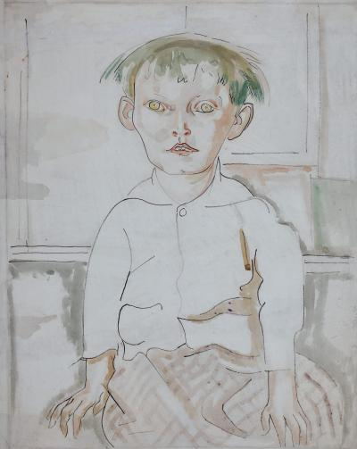 William Sommer Seated Child Tess