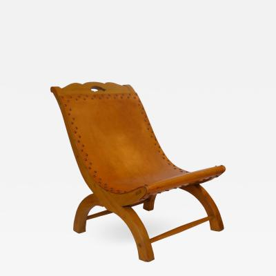 William Spratling Signed Butacque Chair by William Spratling