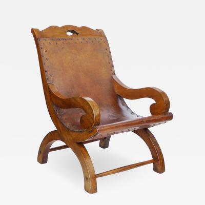 William Spratling Signed Hand Made Butacque Arm Chair William Spratling