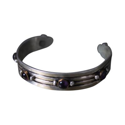 William Spratling William Spratling Cuff Bracelet Sterling Brass Amethyst