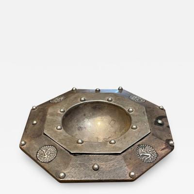 William Spratling William Spratling Dotted Silver Octagon Dish Bird Motif Modern Mexico 1940s