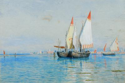 William Stanley Haseltine Fishing Boats Venice