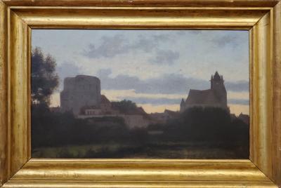 William Stanley Haseltine Landscape Painting of a German view by William Stanley Haseltine
